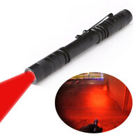 Pen Type Red Beam Light Flashlight Torch Astronomy Night Vision Camping Aviation