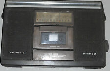 FM LW MW RADIO TUNER VINTAGE GRUNDING RR450 CASSETTE PLAYER RECORDER STEREO REC