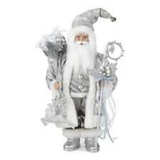 """North Pole Trading Co. 18"""" Decorative Silver Santa"""