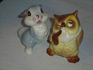 2 Disney Shaw or American Pottery Flower's Brother an The Owl(NM)1950's