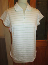 Adidas ladies golf top size large  14 brand new with tags white pear stripe