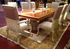 8 Stühle Set Esszimmer Designer Holz Stuhl Garnitur Antik Stil Barock Rokoko E66