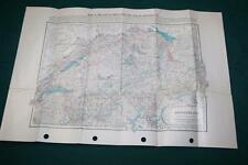 1920 MAP SWITZERLAND CENSUS RAILROAD LINES TRANSPORTATION HIGHWAYS CANALS