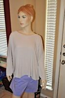 Old Navy Women's Top Blouse Sz XXL Long Sleeve Creme Beech Stone Super Soft NWOT