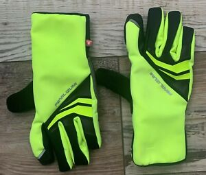 Pearl Izumi Elite Softshell Gel Cycling Gloves Yellow Size Large - 14141604