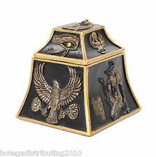 Egyptian Trinket Box Multi Deities Jewelry Box Black Gold Color Anubis Scarab
