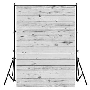 3*5ft White Wood Wall Prints Photography Background Photo Backdrop Props Screen