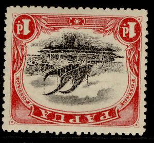 AUSTRALIA - Papua GV SG76, 1d black & carmine, M MINT. Cat £15. WMK INVERTED