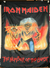 2007 IRON MAIDEN The Number of the Beast Fabric Banner Poster MADE IN ITALY Look