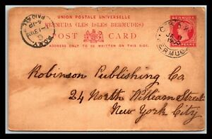 GP GOLDPATH: BERMUDA POSTAL CARD 1900 _CV676_P10