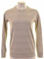 JACK WILLS Womens Top Long Sleeve UK 8 Small Grey Polyester  CX11