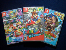 Donkey Kong Country:Tropical Freeze,Super Mario Odyssey & Mario Kart 8-Brand New