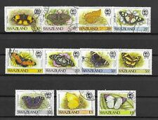 SWAZILAND 1987 BUTTERFLIES/Moths values to E5. , fine postal Used