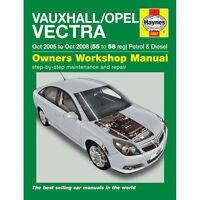 Vauxhall Vectra Haynes Manual 2005-08 1.8 2.2 Petrol 1.9 Diesel