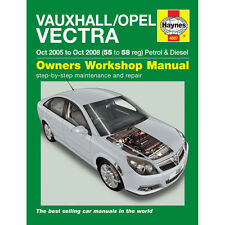 Vauxhall Vectra 1.8 2.2 Petrol 1.9 Diesel 05-08 (55 to 58 Reg) Haynes Manual