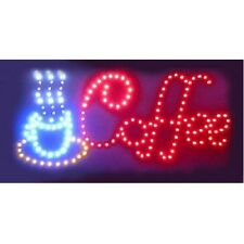 Animated Motion Led Restaurant Coffee Club Sign On/Off Switch Open Light Neon