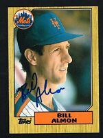 Bill Almon #1T signed autograph auto 1987 Topps Baseball Trading Card