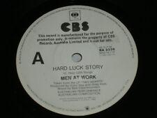 "MEN AT WORK Hard Luck Story RARE WHITE LABEL PROMO on CBS 1985 7"" NM"