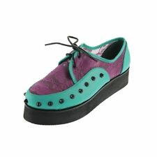 Iron Fist NEW Love Lace Your Face Green Studded CREEPERS BNIB SZ 37