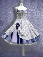 NEU! 50er Jahre Standesamt Brautkleid Abendkleid Petticoat kleid Abiballkleid