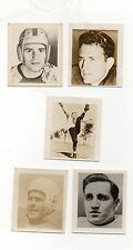 1948 Kelloggs Pep Football Cards-Complete 5 Card Set-All Rookie Cards!