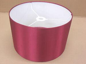 """Hand Made 16"""" Rolled Edge Cranberry Red Satin Lampshade"""