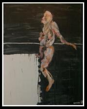 Modern Male Nude Expressionist Oil Painting by Michael Hafftka  - Slice