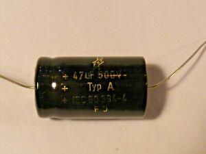 Axial 47μF (47uF) 500V F&T Capacitor Cap Fender Hot Rod Deluxe etc 47 uF