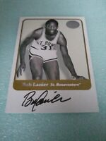 Bob Lanier 2001 Fleer Greats Of The Game On Card Auto Detroit Pistons HOF