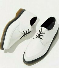 New $164 Dr Martens WILLIS 8 Ladies 7 Mens White Smooth Leather Lace Creepers