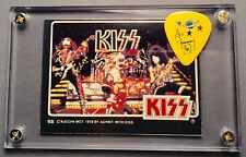 KISS Vintage Donruss card #65 / Ace Frehley rarer yellow guitar pick display!!!