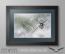 Framed English Electric Lightning F.6 Print, 11 Squadron, RAF Binbrook QRA.