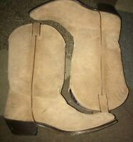 Code West  Boots Tan Suede Leather Cowboy Western  Footwear 10 M. Women's