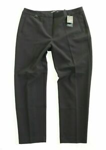 Women's ADRIANNA PAPELL Stretch Black Tapered Ankle Trousers UK14 UK16 W35 L28