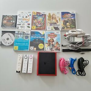 Nintendo Wii Mini Konsole Set 10 Spiele 3 Controller