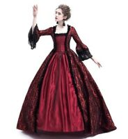 Women's New Victorian Gothic Dress Ruffle Steampunk Evening Vintage Costume
