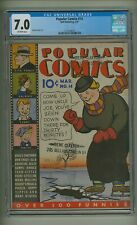 Popular Comics 14 (CGC 7.0) O/W pages; Sheldon Mayer art; Dell; 1937 (c#23744)