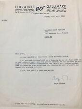Roger NIMER - Lettre signée à André Parinaud / Elisabeth Gaspar - Marcel Aymé