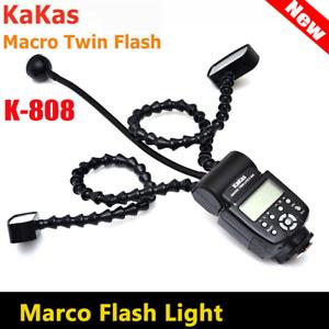 DHL Kakas Macro Twin Lite Flash K-808 Professional Macro Ring Flash Light f DSLR