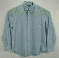 Vince Mens XL Shirt Blue Striped Long Sleeve Button Up Cotton Button Down Collar