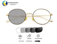 Retro Round Photochromic Gray Reading Glasses Readers +0.0~+4.00 Eyewear UV400