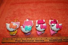 4 Lot of Hello Kitty Toys with Bracelets & Hair Barrette Inside