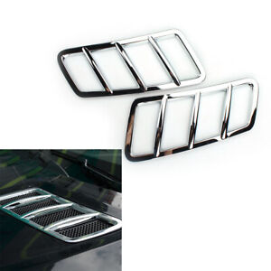 Chrome Hood Grille Engine Air Vent Cover Trim For Mercedes Benz GLE GL ML