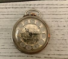 Swiss Made Vintage Hawthorne Mechanical Wind Up Pocket Watch