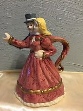 Dancing Loving Victorian Styled Dress Couple Teapot Tea Pot Collectible Romantic