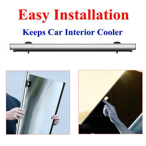 Car Auto Roller Shades Telescopic Front Reflective Windshield Extension Sunshade