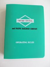 Vintage 1987 Chicago Central & Pacific Railroad CC&P Operating Rules Book