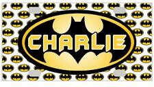 BATMAN MINI LICENSE PLATE Bicycles Motorcycles Wagons Door Sign Kids Personalize
