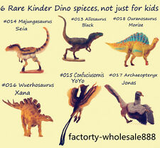 Pnso 6 rare kinder Dinosaurs Figures kids education set B model Archaeopteryx