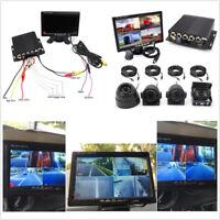 "7""LCD Monitor+4CH DVR Box+4 Pcs Night Vision HD Camera Kit For Vehicle Truck Van"